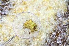 Zgłębia Smażyć ryba w niecce w ind obrazy stock