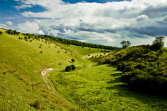 Zgłębia - zieloną dolinę w North Yorkshire Zdjęcia Royalty Free