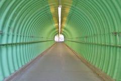 zgłębia zielonego koloru horroru tunelowy odczucie Fotografia Royalty Free