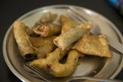 Zgłębiam smażył Azjatycką kuchnię Fotografia Royalty Free