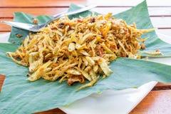 Zgłębiam smażył ryba z termeric, Tajlandzkim jedzeniem, Zdjęcie Stock