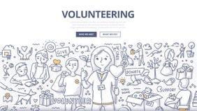 Zgłaszać się na ochotnika Doodle pojęcie Obraz Stock
