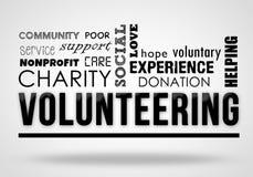 Zgłaszać się na ochotnika - kolażu pojęcie ilustracji