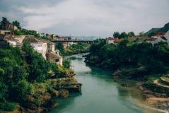 zgadzający się terenu teren kartografuje ważny ścieżki ulga cieniącego stan otaczający terytorium miastowa roślinność Bosnia klam Obraz Royalty Free