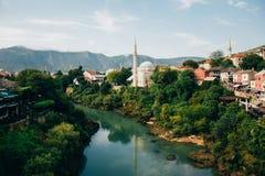 zgadzający się terenu teren kartografuje ważny ścieżki ulga cieniącego stan otaczający terytorium miastowa roślinność Bosnia klam Obraz Stock