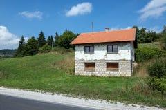 zgadzający się terenu teren kartografuje ważny ścieżki ulga cieniącego stan otaczający terytorium miastowa roślinność Bosnia klam Fotografia Stock