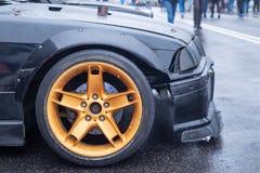 Wheel close up, car tuning royalty free stock photo