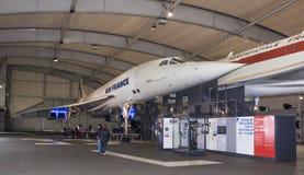 Zgoda - francuza naddźwiękowy pasażerski samolot w M Obrazy Stock