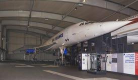 Zgoda - francuza naddźwiękowy pasażerski samolot w M Zdjęcia Stock