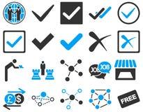 Zgoda i handlowych połączeń ikony set Zdjęcia Royalty Free
