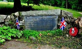 Zgoda, MA: Brytyjski żołnierza pomnik zdjęcia royalty free