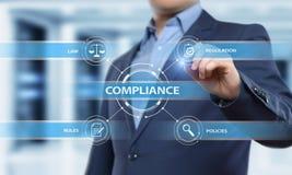Zgodność Rządzi prawo Przepisowej polisy technologii Biznesowego pojęcie Fotografia Stock