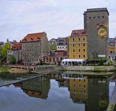 Zgorzelec, Poland. The waterfront of Nysa river in Zgorzelec, Poland royalty free stock photo