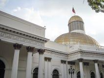 Zgromadzenia Narodowego Capitolio polityka Kongresowi delegaci W centrum Caracas Wenezuela Obrazy Stock