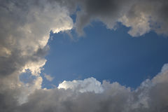 Zgromadzenie burzy chmury I zmierzchu światło Zdjęcia Royalty Free