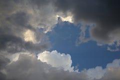 Zgromadzenie burzy chmury I zmierzchu światło Zdjęcie Royalty Free