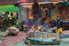 Zgromadzenie Indiański Hinduski sadhus Zdjęcia Stock