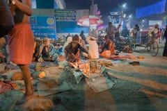 Zgromadzenie Indiański Hinduski sadhus Obraz Royalty Free