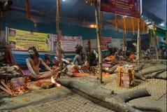 Zgromadzenie Indiański Hinduski sadhus Zdjęcie Royalty Free