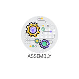 Zgromadzenie maszynerii Przemysłowej automatyzaci przemysłu produkci ikona ilustracja wektor