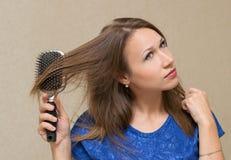 zgrzywiona kobieta włosów Fotografia Stock