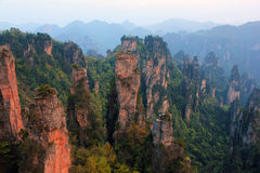 Zhāngjiājiè, China, Asia. Mountain Zhāngjiājiè Park, avatar, the nature of China, a UNESCO reserve stock photo