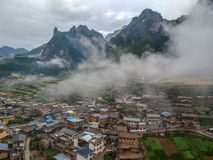 Zha Ga Na. Village, the place which created with God& x27;s thumb, in Diebu county, Gansu province Stock Photos