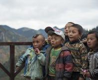 Zha Gala mountain children. Royalty Free Stock Image