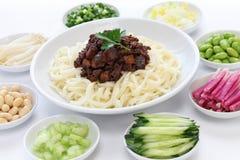 Zha jiang mian (estilo do Pequim) Imagem de Stock
