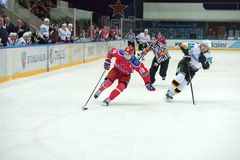 Zhafyarov en avant Damir (18) Photo libre de droits