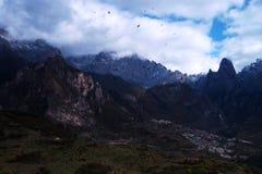 Zhagana风景在Gannan,中国` s甘肃 免版税库存照片