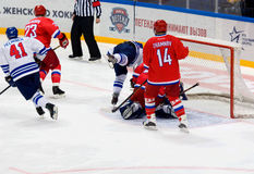 A. Zhamnov (14) defend the gate Stock Photo