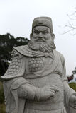 Zhang fei stone carving Royalty Free Stock Images
