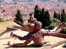 Zhang Huan : statue of divinities in Forte Belvedere Royalty Free Stock Photos