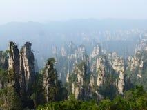 Zhang Jia Jie. Mountain view w stony scene royalty free stock image
