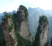 Zhang Jia Jie peaks in south China.  royalty free stock photos