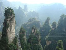 Zhang Jia Jie peaks in south China.  royalty free stock image