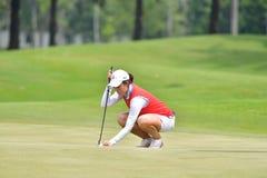Zhang Jienalin van China in de Meester 2017 van PTT Thailand LPGA Royalty-vrije Stock Foto