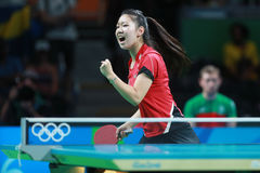 ZHANG Lily at the Olympic Games in Rio 2016. Royalty Free Stock Images