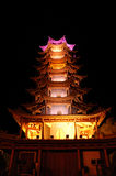 Zhang ye county ying. At night,in gansu province in China Royalty Free Stock Photos