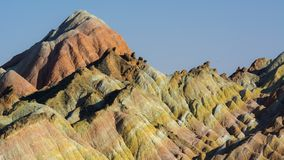 Zhang Yu colorful Danxia. The Danxia landform group in Zhangye, Gansu, China, commonly known as the `The Danxia landform group in Zhangye, Gansu, China, commonly stock photography
