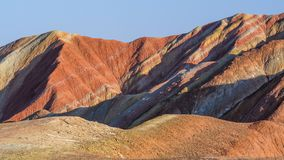 Zhang Yu colorful Danxia. The Danxia landform group in Zhangye, Gansu, China, commonly known as the `The Danxia landform group in Zhangye, Gansu, China, commonly stock image