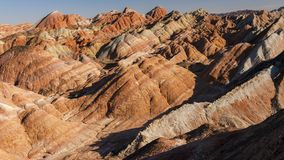 Zhang Yu colorful Danxia. The Danxia landform group in Zhangye, Gansu, China, commonly known as the `The Danxia landform group in Zhangye, Gansu, China, commonly stock photos