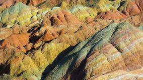 Zhang Yu colorful Danxia. The Danxia landform group in Zhangye, Gansu, China, commonly known as the `The Danxia landform group in Zhangye, Gansu, China, commonly royalty free stock photos