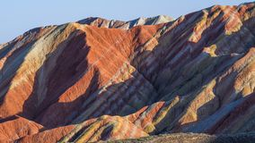 Zhang Yu colorful Danxia. The Danxia landform group in Zhangye, Gansu, China, commonly known as the `The Danxia landform group in Zhangye, Gansu, China, commonly royalty free stock images