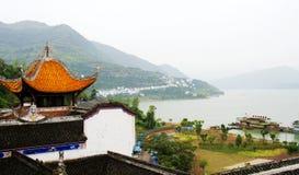 zhangfei寺庙风景  免版税库存照片