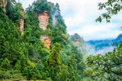 Zhangjiajie†‹national†‹forest†‹公园的,武陵源,中国黄石村庄 库存图片