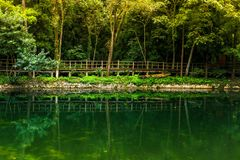 Zhangjiajie†‹national†‹forest†‹公园的,武陵源,中国黄石村庄 免版税库存图片