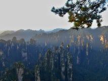 """Zhangjiajie """"Avatar""""berget i det Hunan landskapet i Kina Fotografering för Bildbyråer"""