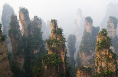 ZhangJiaJie, 1r parque del bosque del Estado en China Imagen de archivo